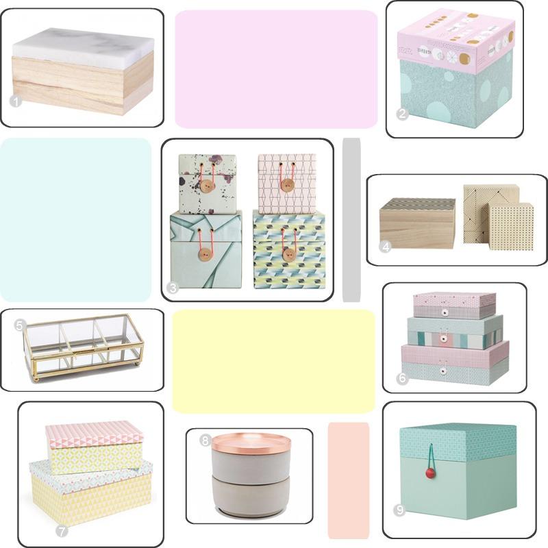 sélection jolies boîtes