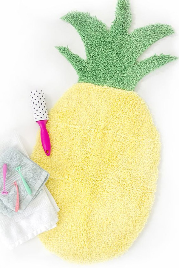 diy fun tapis ananas
