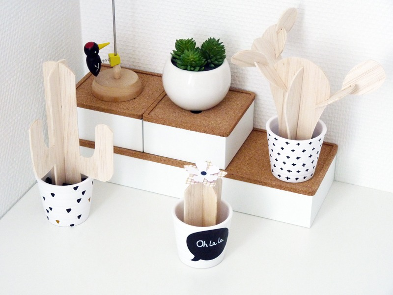 diy des cactus en bois de balsa black confetti. Black Bedroom Furniture Sets. Home Design Ideas