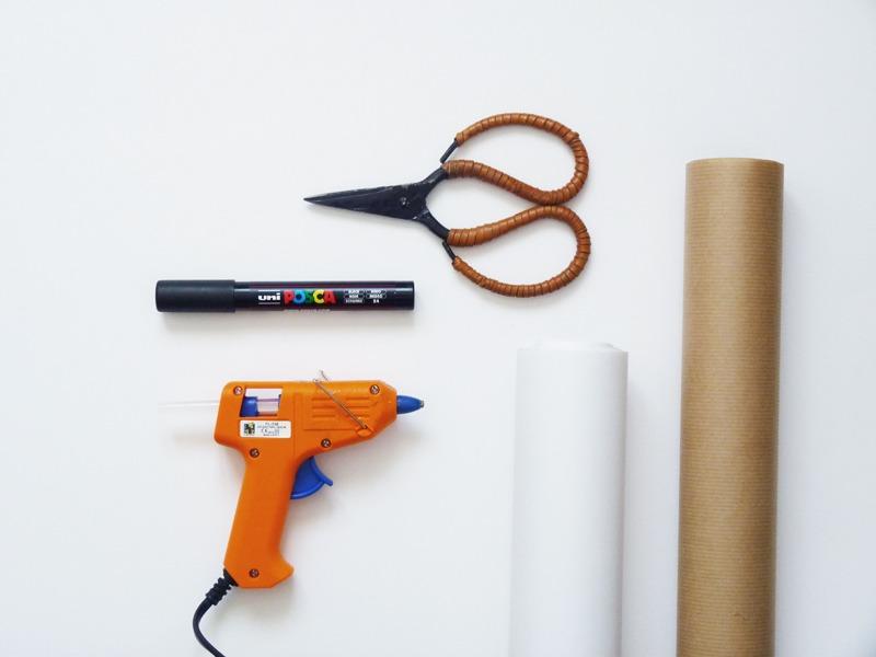 matériel diy sac en papier s