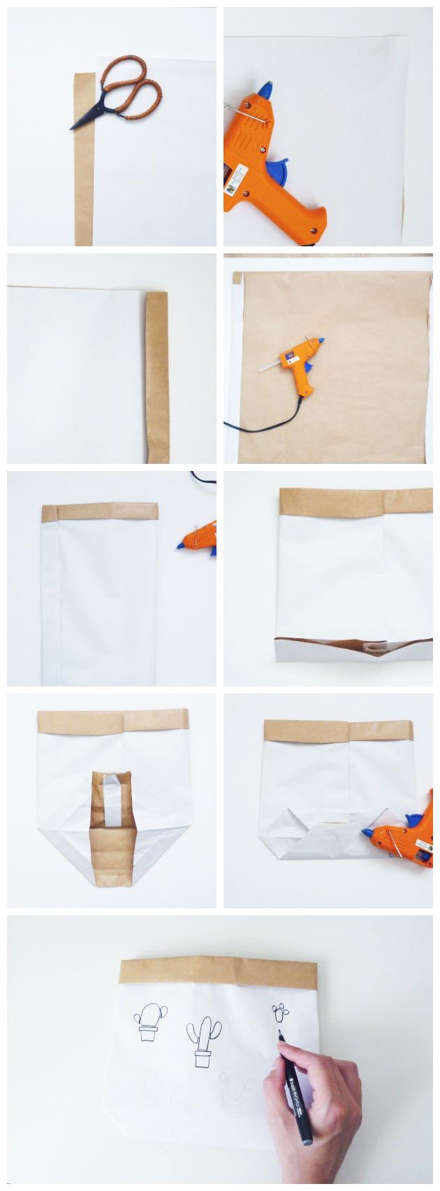 tuto diy sac en papier