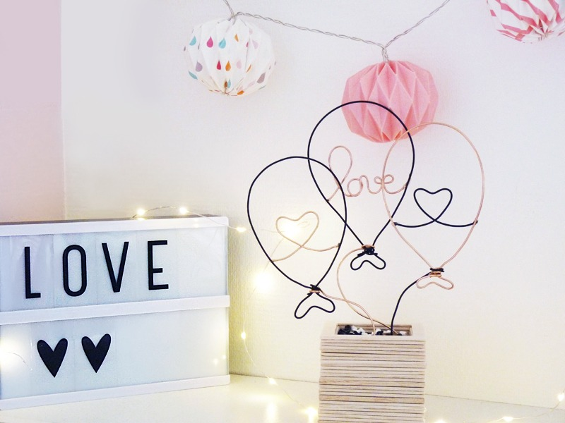 Diy st valentin love is in the air black confetti - Date de la saint valentin 2017 ...