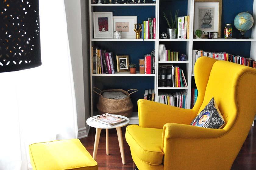 se cr er un coin lecture black confetti. Black Bedroom Furniture Sets. Home Design Ideas