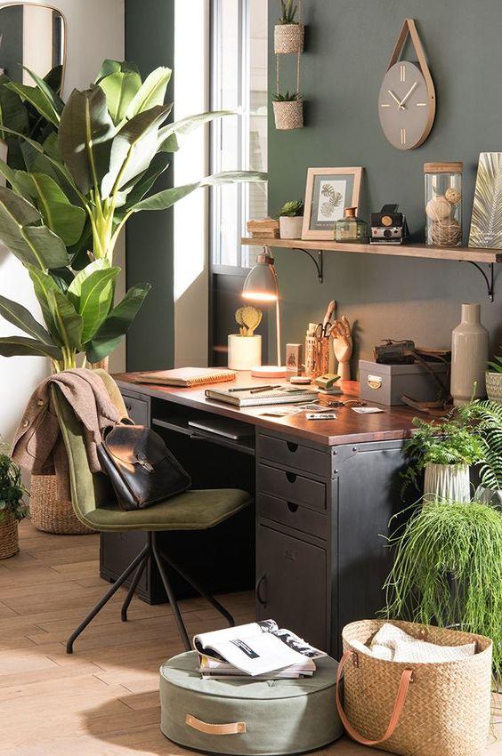 inviter la nature dans son bureau 5