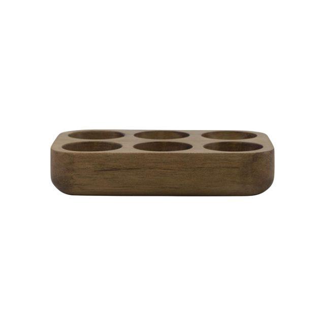 support oeufs en bois
